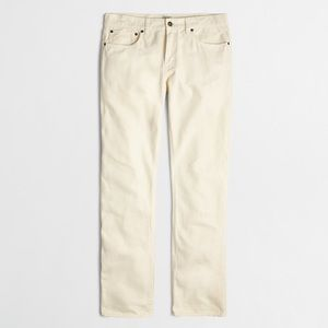 Men's J. Crew Bleecker Garment-Dyed Jean in Cream